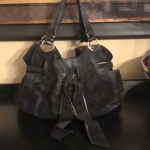 Beautiful black suede bag